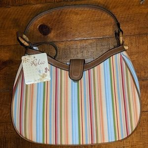 Relic multi-colored striped shoulder bag